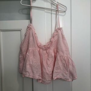 Zara Cropped Babydoll Top